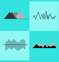 set of geometric charts on vector image