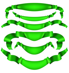 set of horizontal green banners eps 10 vector image