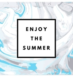 Summer hipster marble background vector