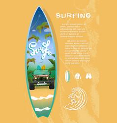 surf board sale vector image
