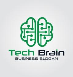 Technology brain logo vector