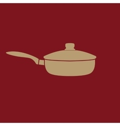 The pan icon dripping pan symbol flat vector