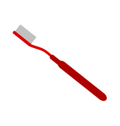 toothbrush on white background vector image vector image