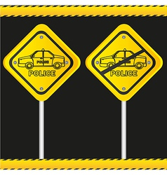 traffic sign isolated on black background vector image