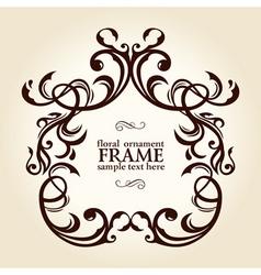 vintage retro floral frame ornament vector image vector image