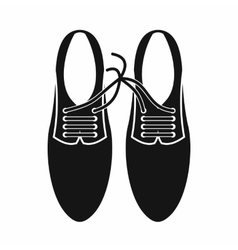 Tied laces on shoes joke icon simple style vector