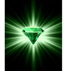 Beautiful green crystal background vector