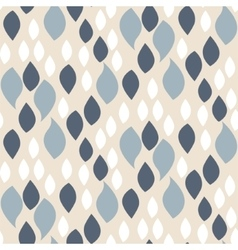 Abstract blue on beige petals pattern vector