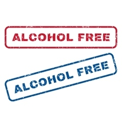 Alcohol free rubber stamps vector