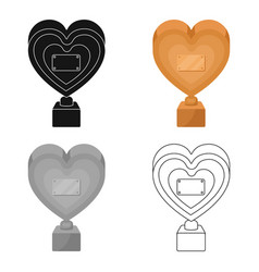 bronze heart in the form of awardsthe audience vector image