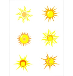 Suns elements for design vector