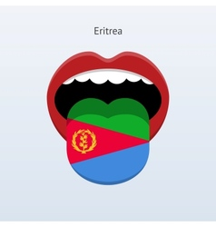 Eritrea language abstract human tongue vector