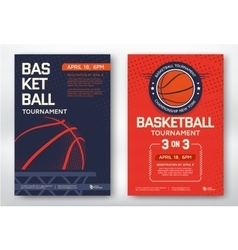 Basketball tournament posters vector image