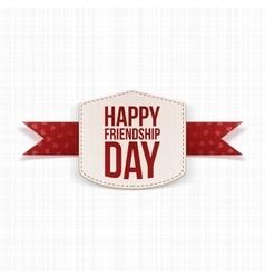 Friendship day festive paper label vector