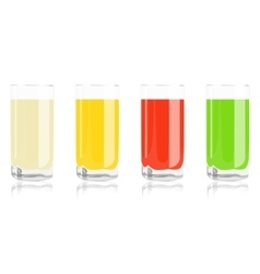 Colored cocktails in glass vector