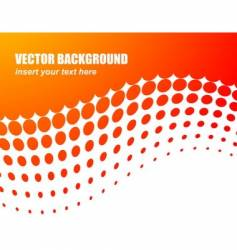 Abstract background with orange circle vector