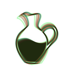Amphora sign colorful icon shaked with vector