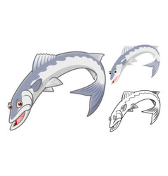 Baracuda fish vector