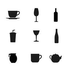 Beverage icons vector image vector image
