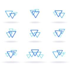 Blue design elements vector
