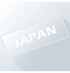 Button japan vector