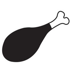Chicken leg icon vector