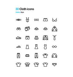 cloth icons vector image vector image