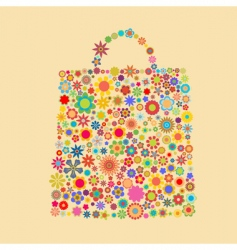 flower bag vector image
