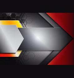 hexagon and arrow background vector image vector image