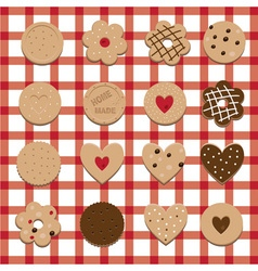 Home made cookies vector