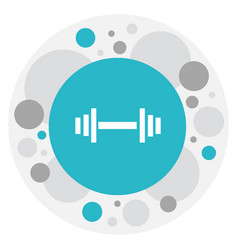 of exercise symbol on barbell vector image