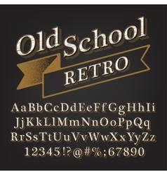 Old school retro alphabet vector