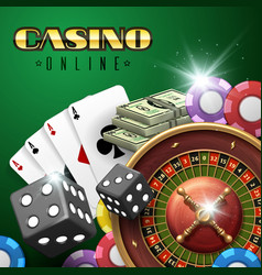 online casino gambling background with vector image vector image