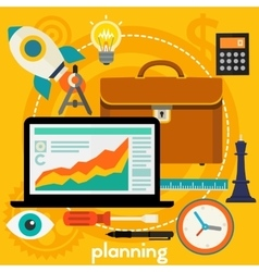 Planning Concept vector image