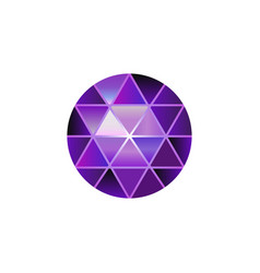 polygonal ball purple gradient vector image vector image