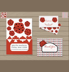 set cookie eat me vector image vector image