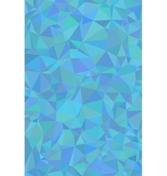 Shades of cyan abstract polygonal geometric vector image vector image