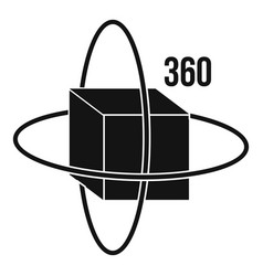 Virtual cube icon simple style vector
