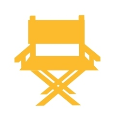 chair director production film icon vector image