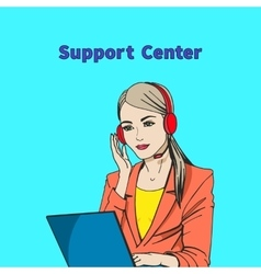A concept of support center vector
