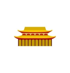 Buddha toothe relic temple in singapore icon vector