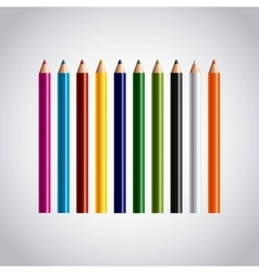 Set colors pencils icon vector