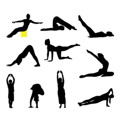 Fitness and yoga vector