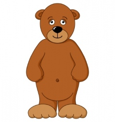 Teddy bear brown isolated vector