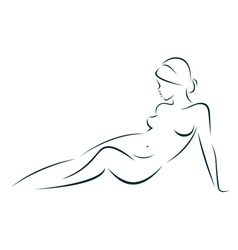 Beauty of the female body vector