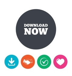 Download now icon load button vector