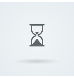 Hourglass icon time pictogram vector