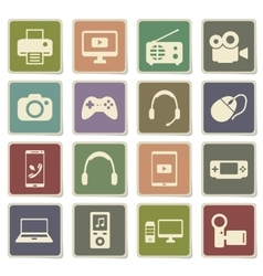 Gadgets simply icons vector image