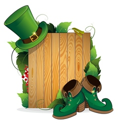 Leprechaun shoes and hat vector