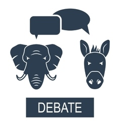 Concept of Debate Republicans and Democrats vector image